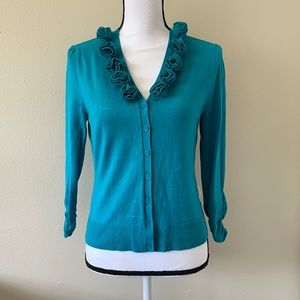 Cato Cardigan Turquoise Knit size Small